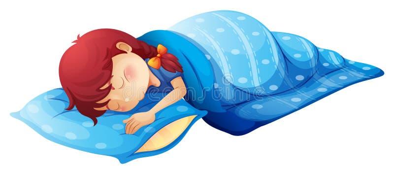 Un niño durmiente stock de ilustración