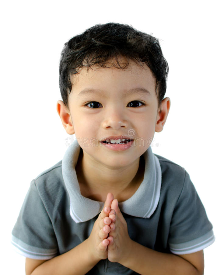 Un niño está pidiendo el permiso imagen de archivo libre de regalías