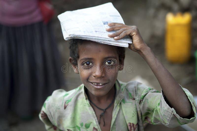 Un niño etíope fotos de archivo