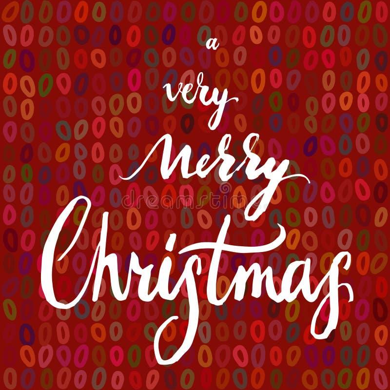 Un Noël très Joyeux illustration libre de droits