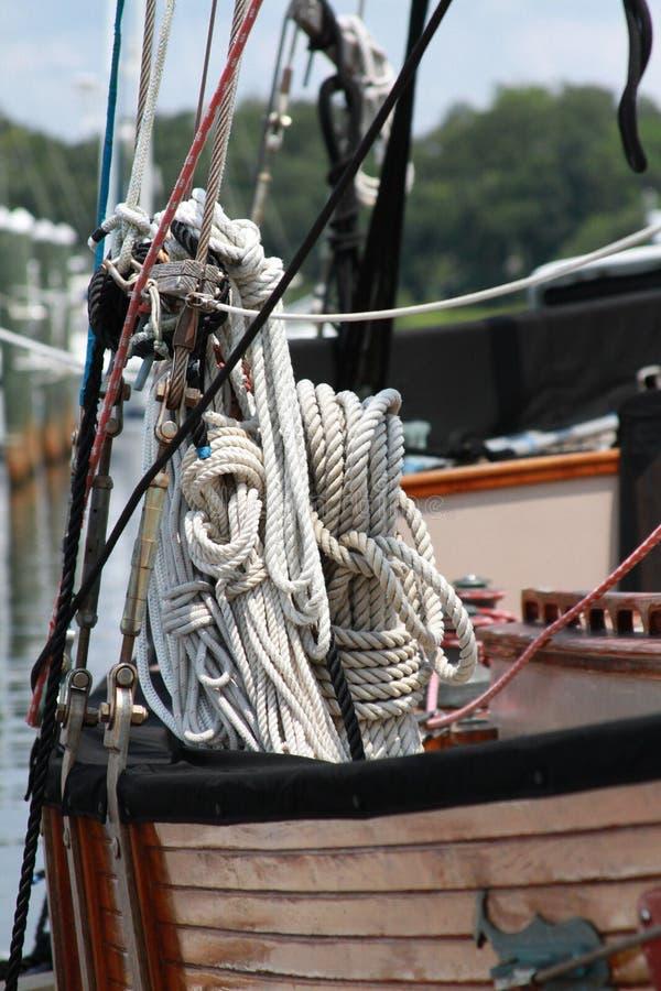 Un nodo dei marinai fotografie stock