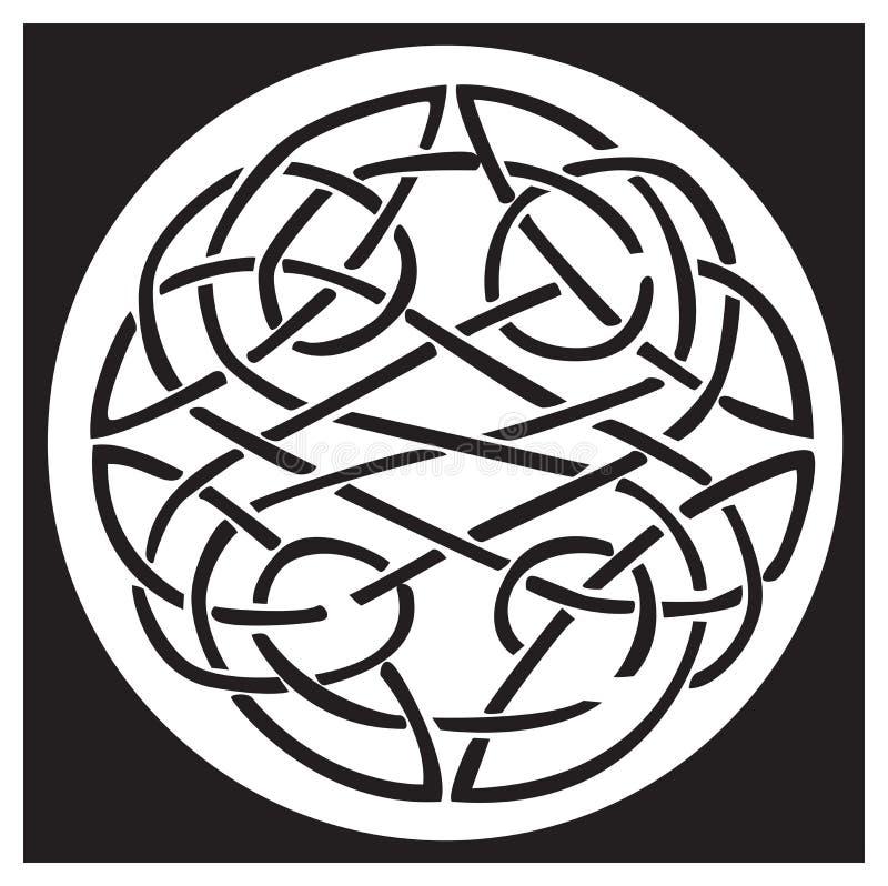 Un nodo e un reticolo celtici in un cerchio progettano royalty illustrazione gratis
