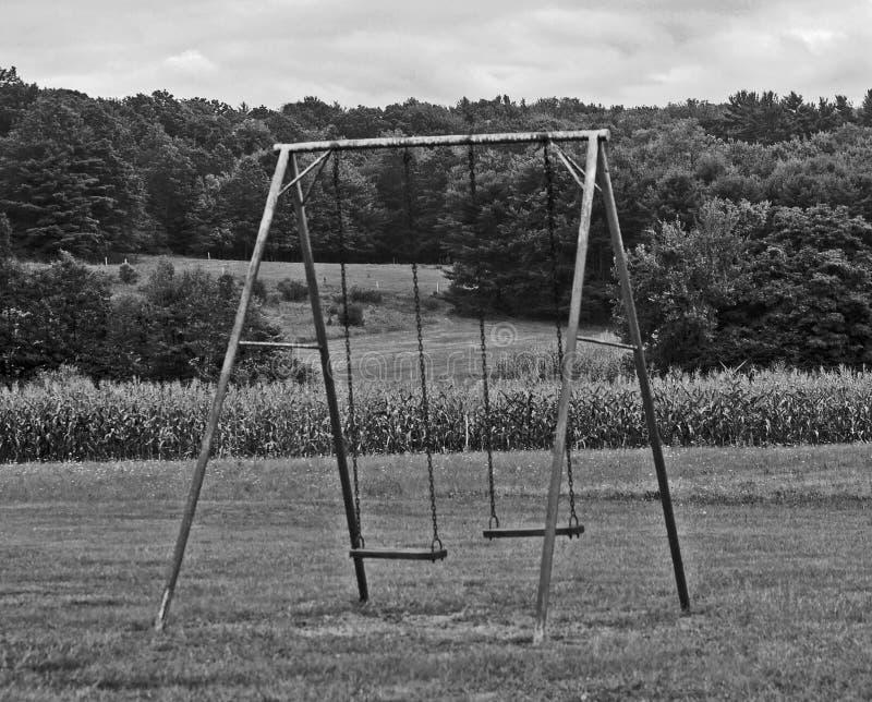 Un noir et blanc d'un ensemble d'oscillation images libres de droits