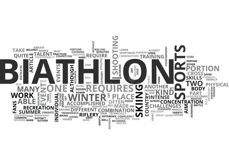 Un nuage de Word d'amorce de biathlon illustration libre de droits