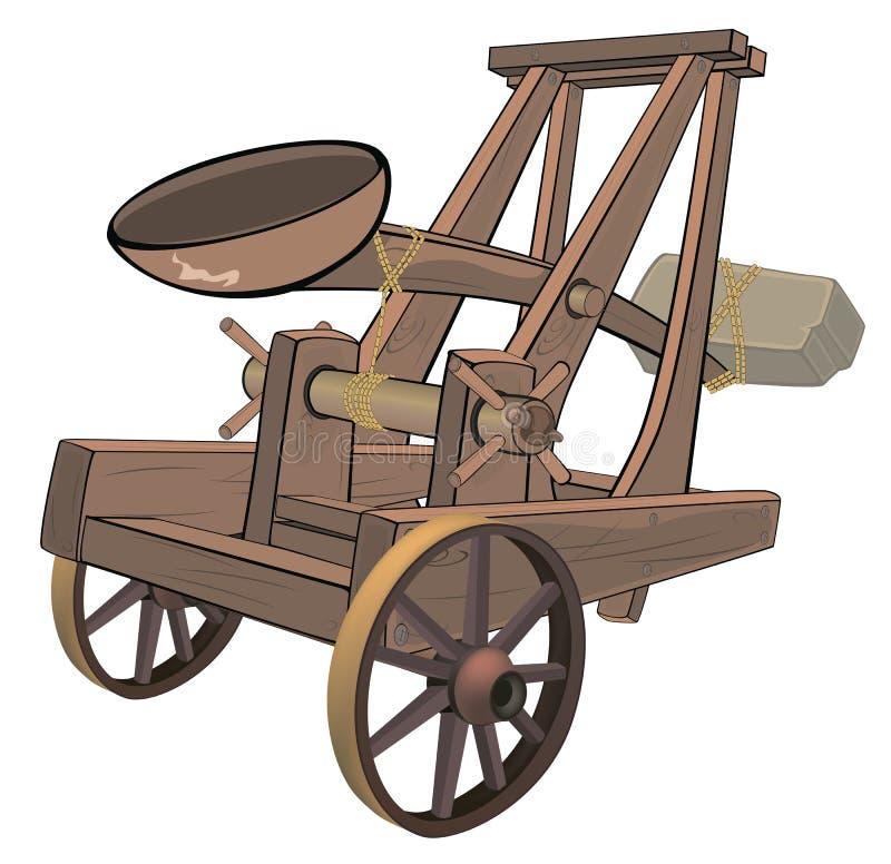 Un objeto del videojuego: catapulta ilustración del vector