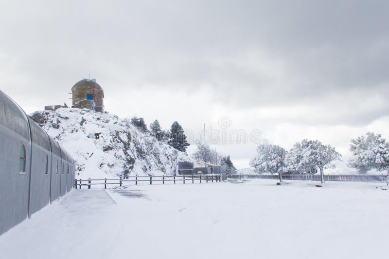 Un observador de la montaña foto de archivo libre de regalías