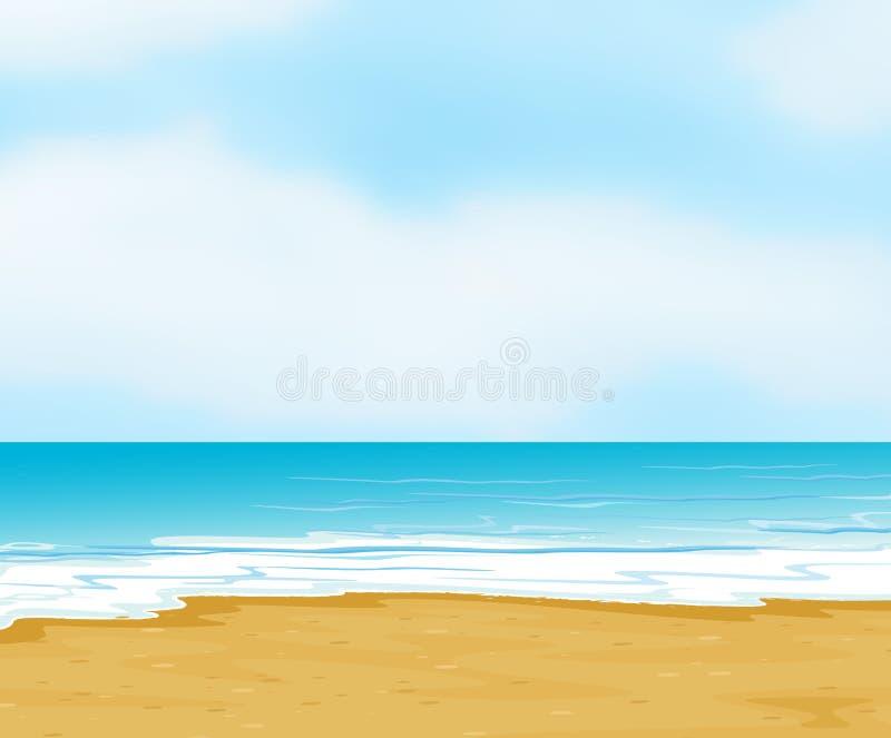 Un océan et une plage illustration stock