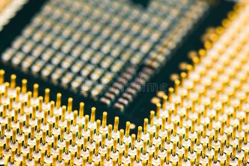 Un'occhiata vicina del CPU immagine stock