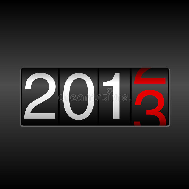 Un odometro da 2013 nuovi anni royalty illustrazione gratis