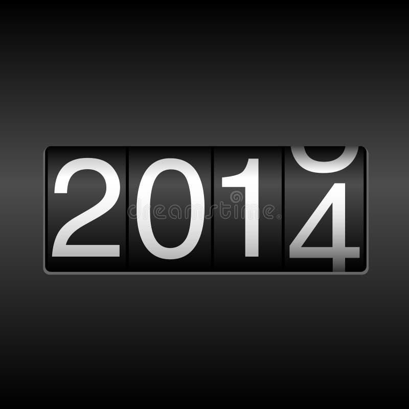 Un odometro da 2014 nuovi anni illustrazione vettoriale