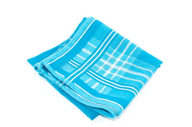 Un oggetto degli azzurri Scott Handkerchief ha isolato fotografie stock