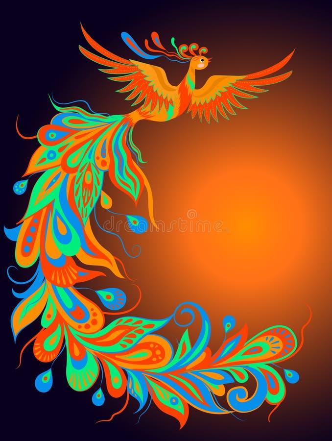 Un oiseau mythique du feu photographie stock