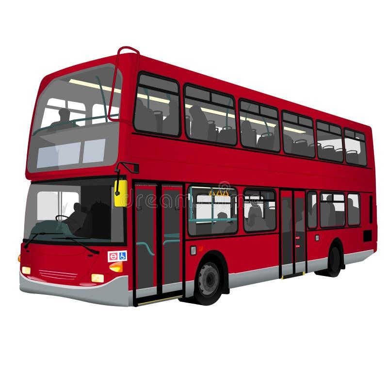 Un omnibus de apilador doble de Londres ilustración del vector