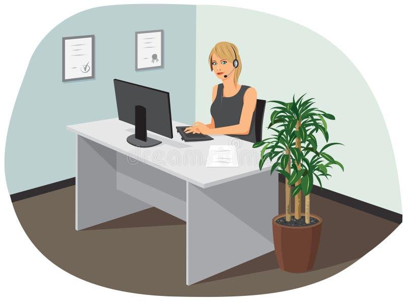 Un operatore di call center royalty illustrazione gratis