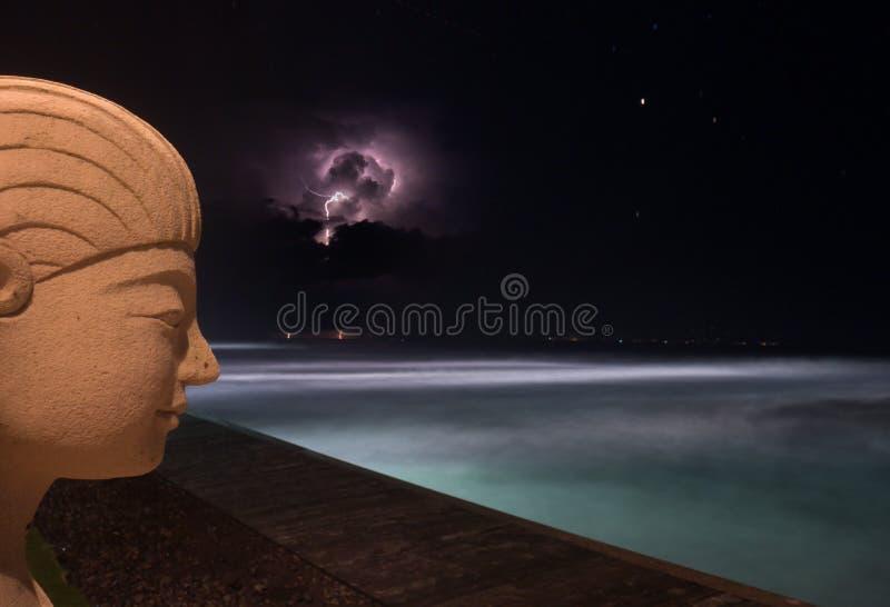 Un orage dans Bali photos libres de droits
