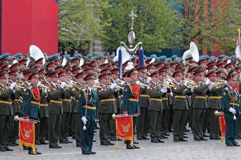 Un orchestre militaire image stock