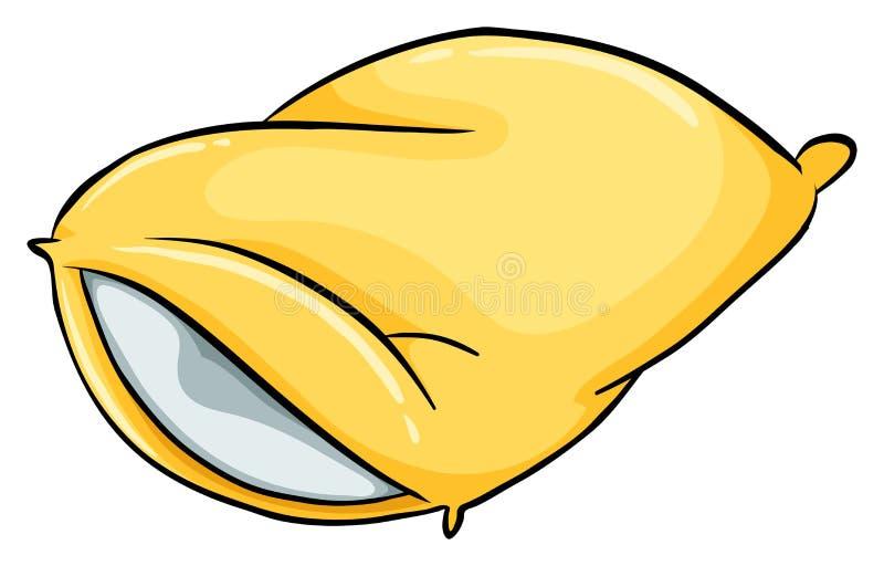 Un oreiller jaune illustration stock