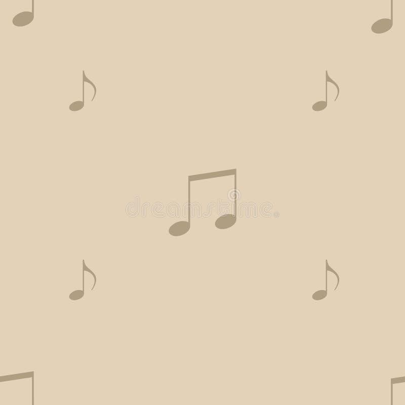 Un ornamento de la música firma en un fondo simple ilustración del vector
