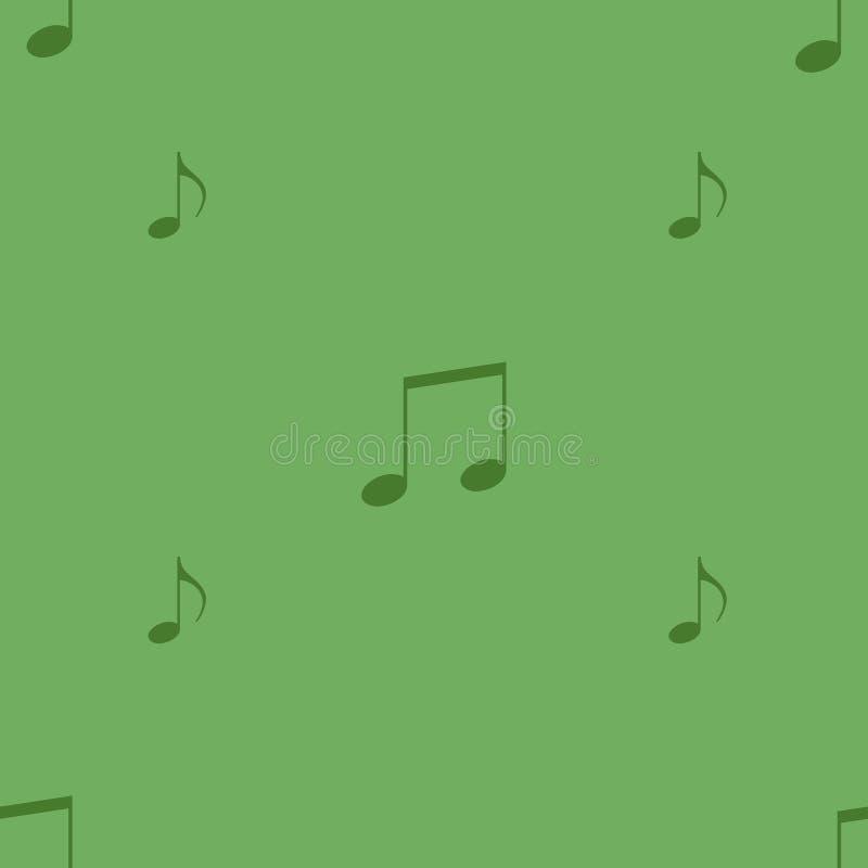 Un ornamento de la música firma en un fondo simple stock de ilustración