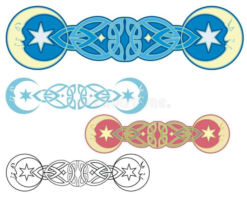 Un ornamento di due lune royalty illustrazione gratis