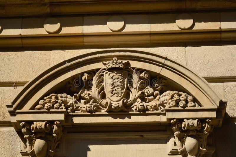Un ornement du vieux bâtiment historique photo libre de droits