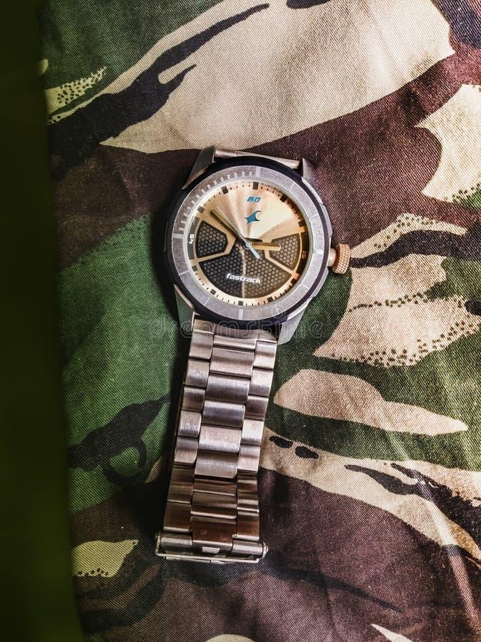 Un orologio bollato fotografia stock