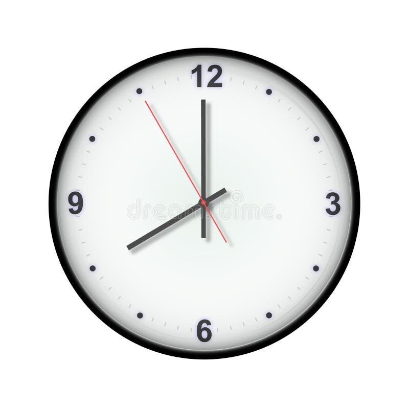 Un orologio delle otto o illustrazione vettoriale