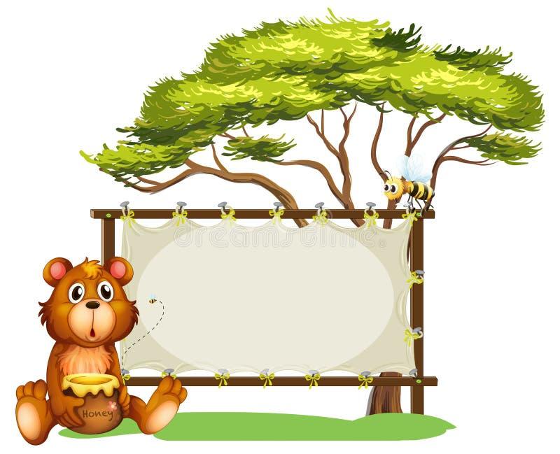 Un orso e api illustrazione di stock