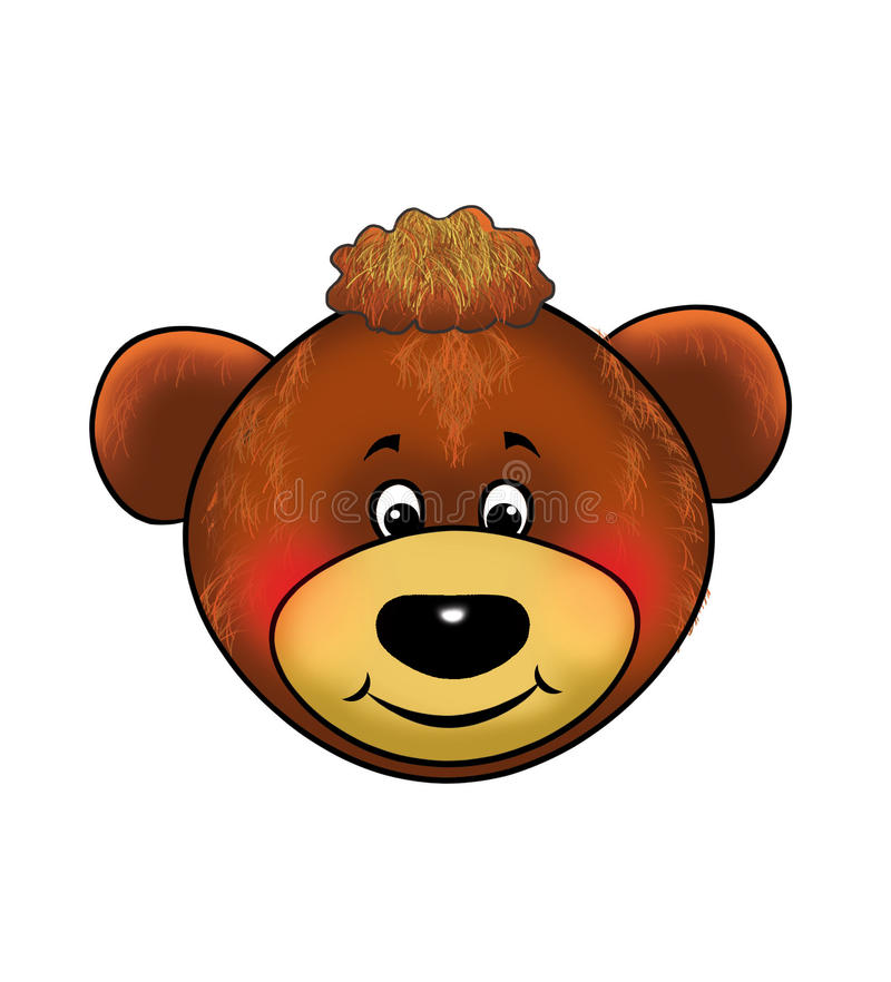 Un orso, orsacchiotto, maschera, carnevale, gli eventi dei bambini, fumetto illustrazione di stock