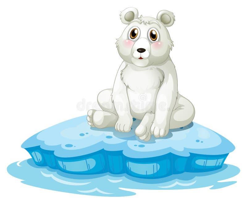 Un orso polare sopra l'iceberg illustrazione di stock