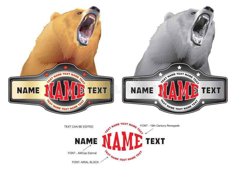 Un oso y una correa ilustración del vector