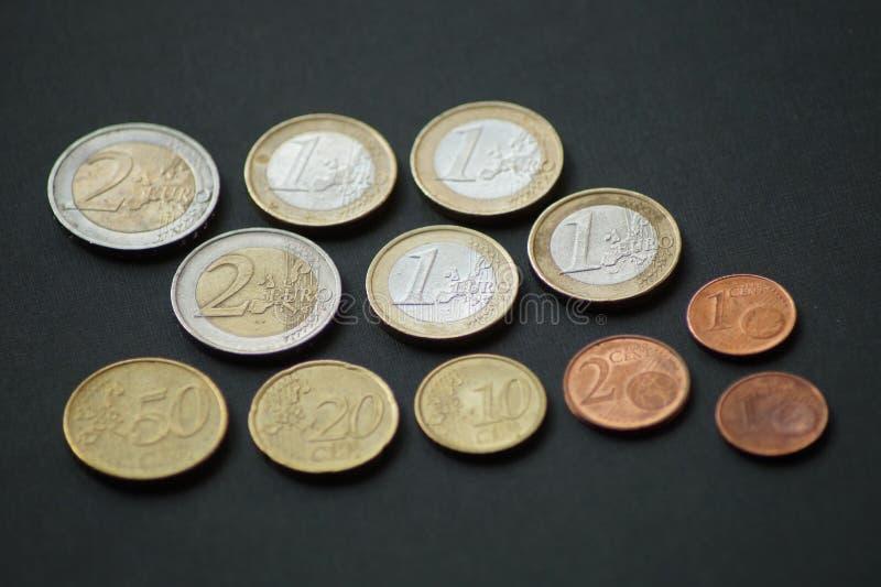Un pacchetto di monete dell'euro centesimo fotografie stock libere da diritti