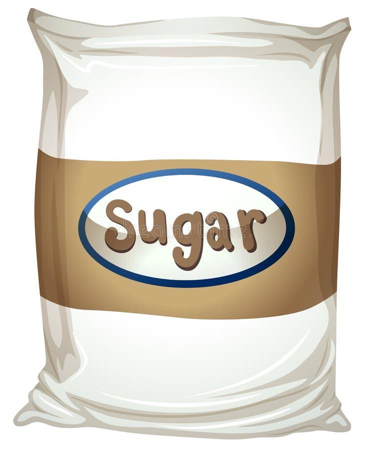 Un pacchetto di zucchero illustrazione di stock