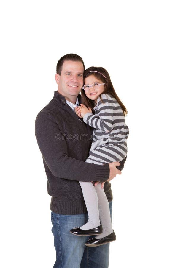 Un padre y una hija imagenes de archivo