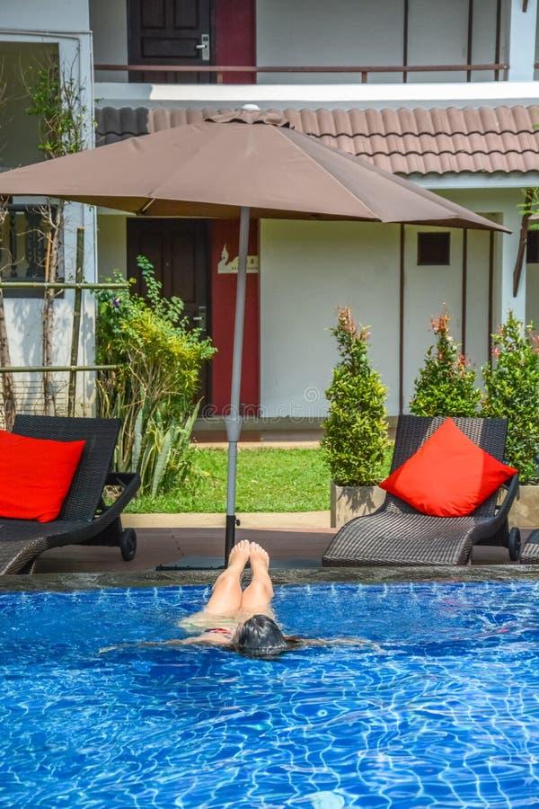 Un paesaggio dell'hotel del NAK Nakara in Chiang Rai, Tailandia fotografia stock libera da diritti