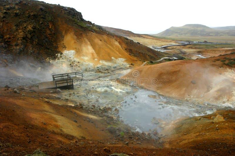 Un paesaggio marziano dell'Islanda immagine stock libera da diritti