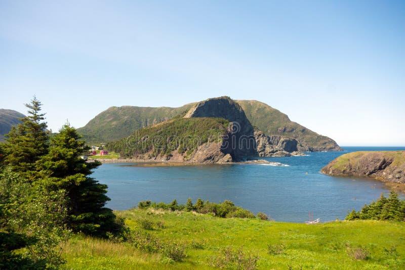 Un paesaggio robusto nelle province marittime fotografia stock