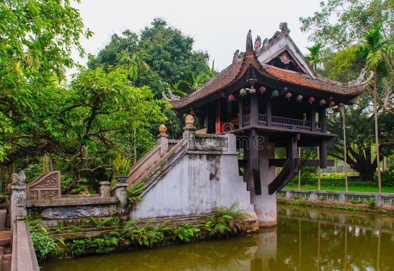 Un Pagoda della colonna fotografia stock