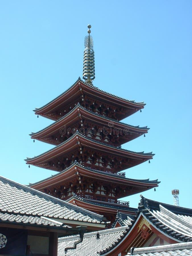 Un pagoda di cinque storie immagine stock