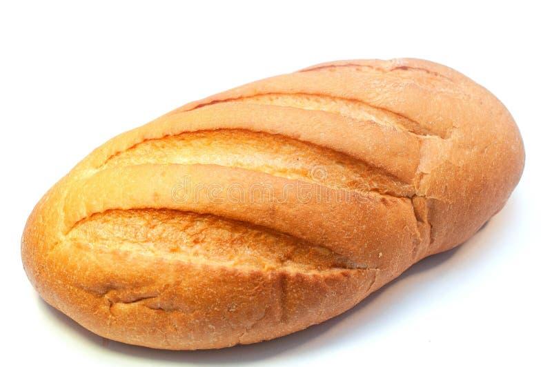 Un pain de pain frais d'isolement sur le fond blanc photographie stock libre de droits