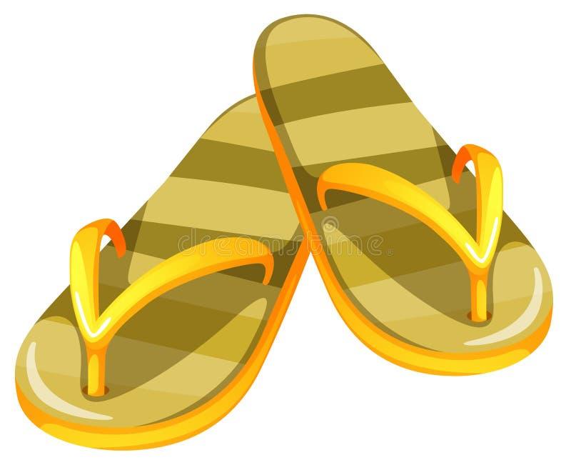 Un paio dei sandali gialli illustrazione di stock