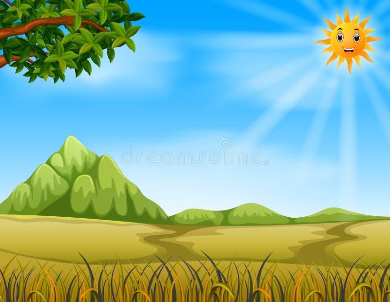 un paisaje de la sabana libre illustration