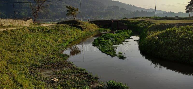 Un paisaje natural hermoso en Guwahati Assam India foto de archivo