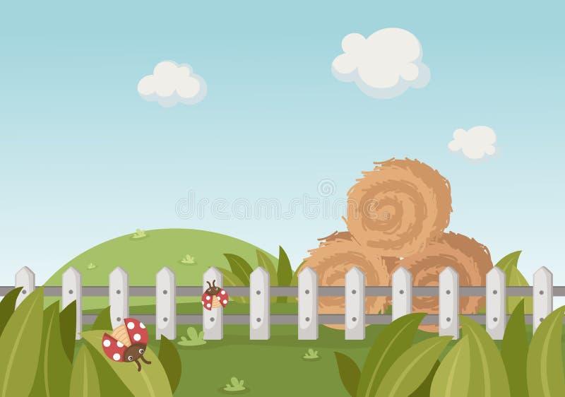 Download Un paisaje rural ilustración del vector. Ilustración de verde - 42434277