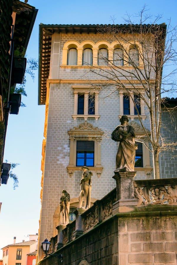 Un palacio en Vic, Cataluña, España fotos de archivo libres de regalías