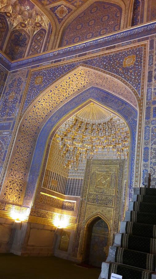 Un palacio histórico famoso en Samarkhand imagenes de archivo