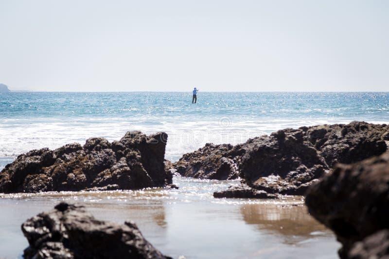 Un paleta-huésped solitario hacia fuera en el océano foto de archivo libre de regalías