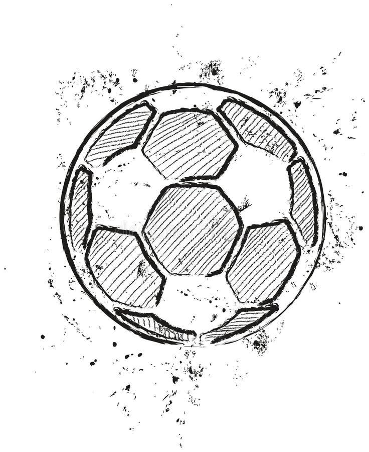Un pallone da calcio illustrazione vettoriale - Pagina da colorare di un pallone da calcio ...