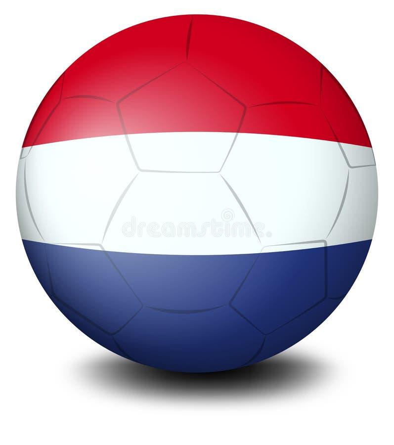 Un pallone da calcio ha progettato con la bandiera dei Paesi Bassi illustrazione vettoriale