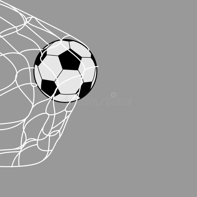 Un pallone da calcio nella parte posteriore della rete immagine stock libera da diritti
